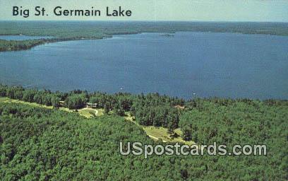 Big St Germain Lake, Wis Postcard      ;      Big St Germain Lake, Wisconsin