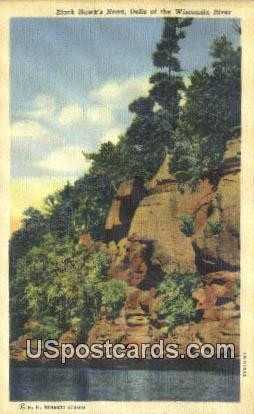 Black Hawk's Head - Dells Of The Wisconsin River Postcards, Wisconsin WI Postcard