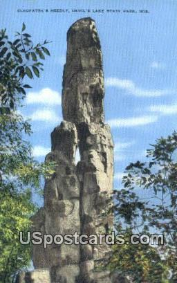 Cleopatra's Needle - Devil's Lake State Park, Wisconsin WI Postcard