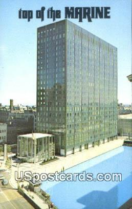 Top of the Marine - MIlwaukee, Wisconsin WI Postcard