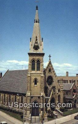 St Luke's Episcopal Church - Racine, Wisconsin WI Postcard