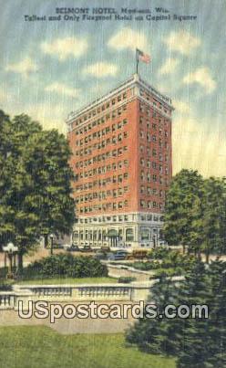 Belmont Hotel - Madison, Wisconsin WI Postcard
