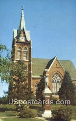 Swiss Evangelical & Reformed Church - New Glarus, Wisconsin WI Postcard