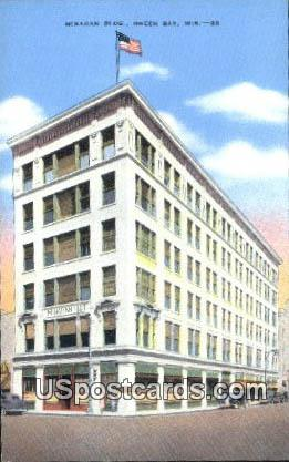 Minahan Building - Green Bay, Wisconsin WI Postcard