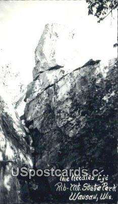 Needles Eye, Rib Mt State Park - Wausau, Wisconsin WI Postcard