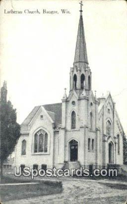 Lutheran Church - Bangor, Wisconsin WI Postcard