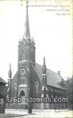 Annunciation Catholic Church - Misc, Wisconsin WI Postcard