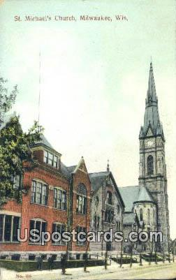 St Michael's Church - MIlwaukee, Wisconsin WI Postcard