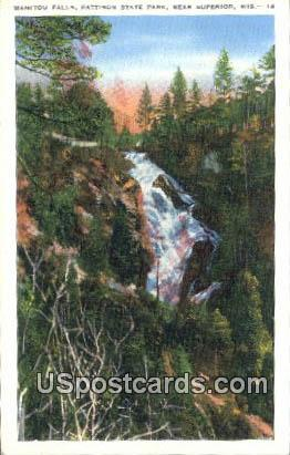 Manitou Falls - Superior, Wisconsin WI Postcard