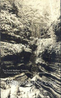 Real Photo - Cold Water Canyon - Kilbourn, Wisconsin WI Postcard