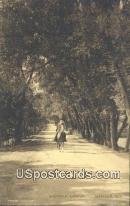 Sherman Avenue - Madison, Wisconsin WI Postcard