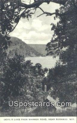 Devil's Lake - Baraboo, Wisconsin WI Postcard