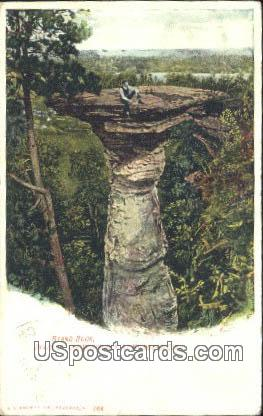 Stand Rock - Kilbourn City, Wisconsin WI Postcard