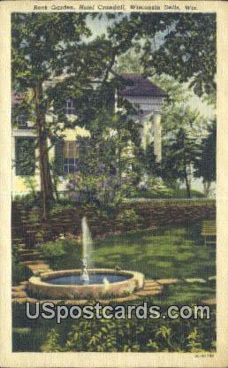 Rock Garden, Hotel Crandall - Wisconsin Dells Postcards, Wisconsin WI Postcard
