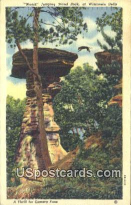 Watch Jumping Stand Rock - Wisconsin Dells Postcards, Wisconsin WI Postcard