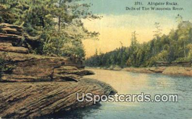 Alligator Rocks - Dells Of The Wisconsin River Postcards, Wisconsin WI Postcard