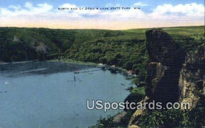 North End - Devil's Lake State Park, Wisconsin WI Postcard