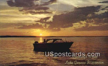 Lake Geneva, WI Postcard      ;      Lake Geneva, Wisconsin