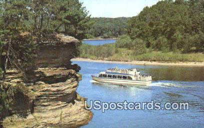 Lower Dells - Wisconsin River Postcards, Wisconsin WI Postcard