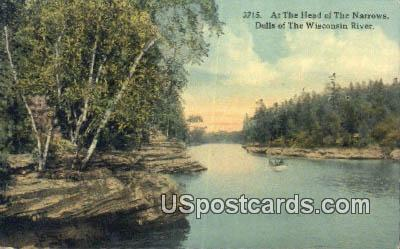 Head of the Narrows - Dells Of The Wisconsin River Postcards, Wisconsin WI Postcard