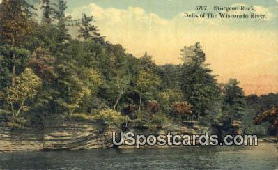 Sturgeon Rock - Dells Of The Wisconsin River Postcards, Wisconsin WI Postcard