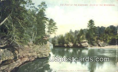 Foot of the Narrows - Dells Of The Wisconsin River Postcards, Wisconsin WI Postcard