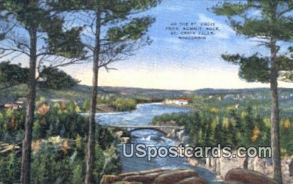 St Croix, Summit Rock - St. Croix Falls, Wisconsin WI Postcard