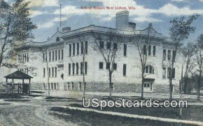 School House - New Lisbon, Wisconsin WI Postcard