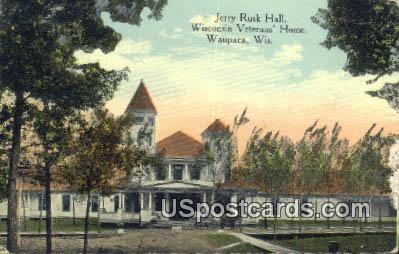Jerry Rusk Hall, Wisconsin Veterans Home - Waupaca Postcard