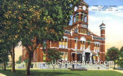 Fond Du Lac County Court House - Wisconsin WI Postcard