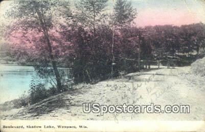 Boulevard, Shadow Lake - Waupaca, Wisconsin WI Postcard