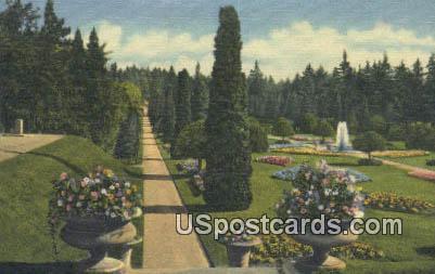 Sunken Gardens, Manito Park - Spokane, Wisconsin WI Postcard