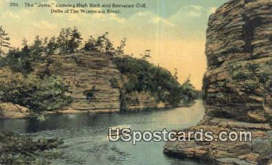 Jaws, High Rock - Dells Of The Wisconsin River Postcards, Wisconsin WI Postcard