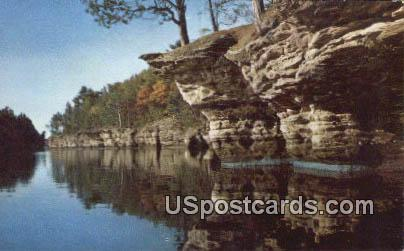 Swallows' Nests - Wisconsin Dells Postcards, Wisconsin WI Postcard