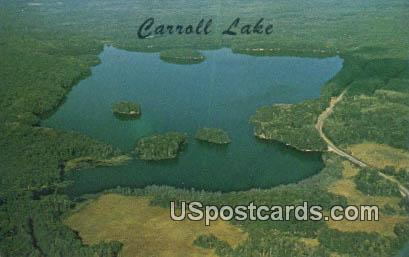 Carroll Lake, Wis Postcard      ;      Carroll Lake, Wisconsin