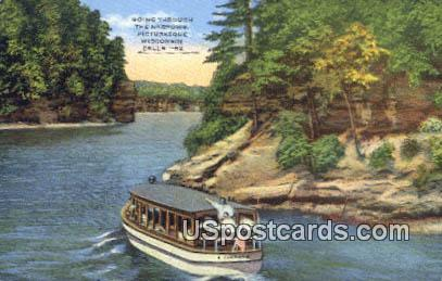 The Narrows - Wisconsin Dells Postcards, Wisconsin WI Postcard