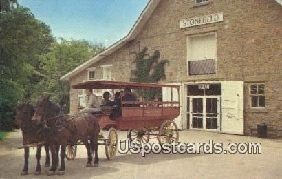 American House Bus - Cassville, Wisconsin WI Postcard