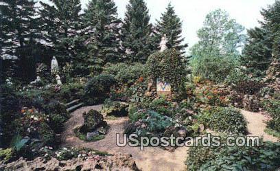 Grotto Shrine & Wonder Cave - Rudolph, Wisconsin WI Postcard