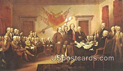 Singing of the Declaration of Independence - Lake Geneva, Wisconsin WI Postcard