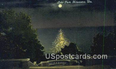 Lake Michigan - MIlwaukee, Wisconsin WI Postcard