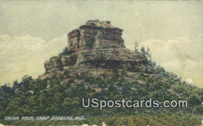 China Rock - Camp Douglas, Wisconsin WI Postcard