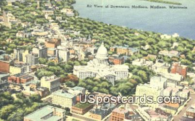 Downtown Madison - Wisconsin WI Postcard
