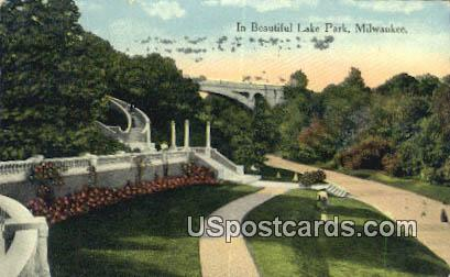 Lake Park - MIlwaukee, Wisconsin WI Postcard