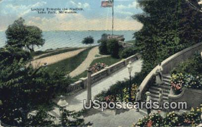 Stadium, Lake Park - MIlwaukee, Wisconsin WI Postcard
