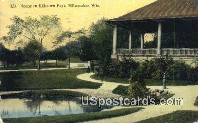 Kilbourn Park - MIlwaukee, Wisconsin WI Postcard
