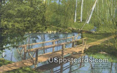 Rustic Bridge - Ashland, Wisconsin WI Postcard