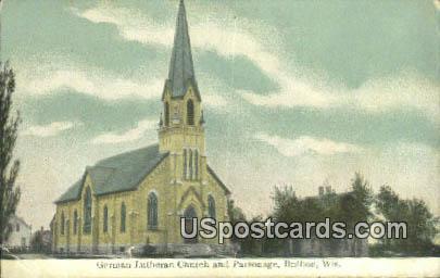 German Lutheran Church & Parsonage - Brillion, Wisconsin WI Postcard