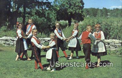 Scandinavian Dancers - Door County, Wisconsin WI Postcard