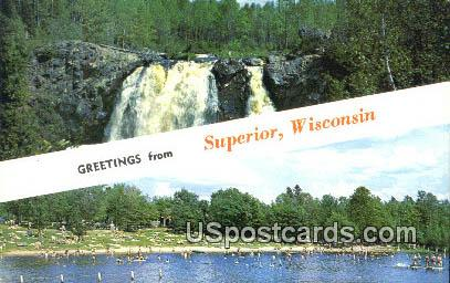 Superior, Wisconsin Postcard      ;      Superior, WI