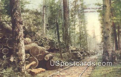 Railroad - Rhinelander, Wisconsin WI Postcard
